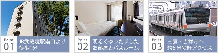 JR武蔵境駅南口から徒歩1分の好立地、明るくゆったりしたお部屋とバスルームゆったりサイズのバスルーム、三鷹・吉祥寺へ約5分の好アクセス